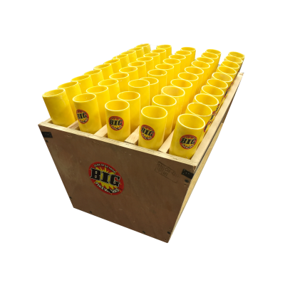 "50 TUBE RACK 1.75"" SHELL - YELLOW FIBERGLASS"